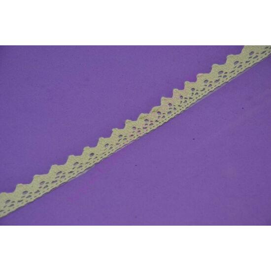 Öntapadós bézs pamut csipke 1,5 cm széles, 1,8 m