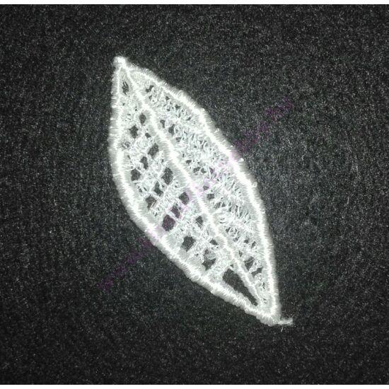 Fehér légcsipke levél 5 cm