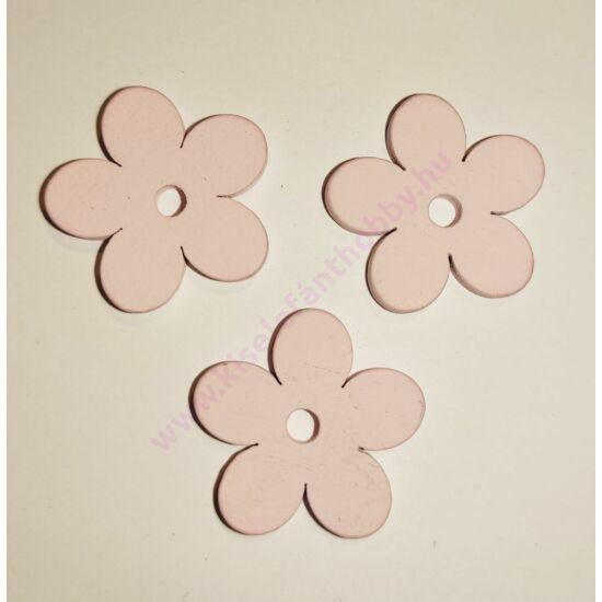 Fa virág 2,5 cm 3 db rózsaszín