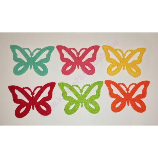 Filc pillangók 6 db
