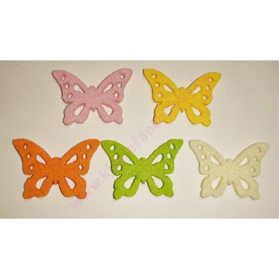 Filc pillangó 4 cm