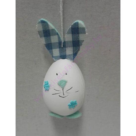 Nyuszi tojás figura kockás kék