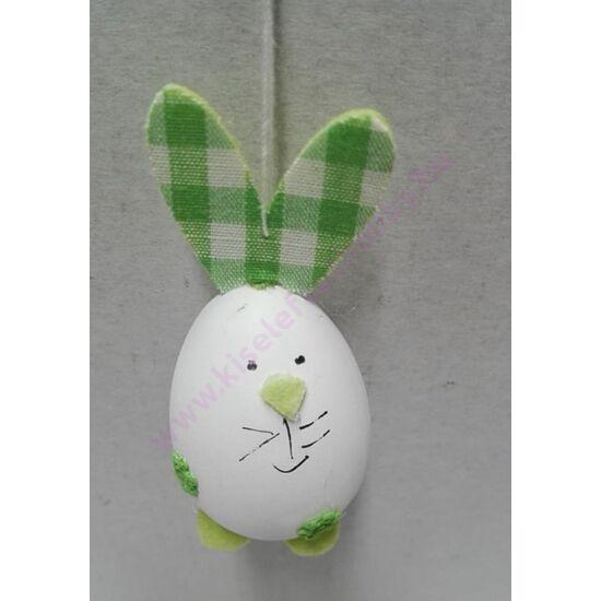 Nyuszi tojás figura kockás zöld