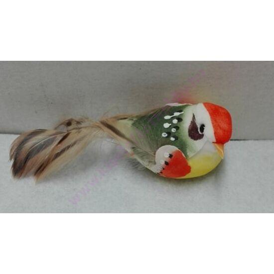 Csipeszes kismadár narancs 10 cm