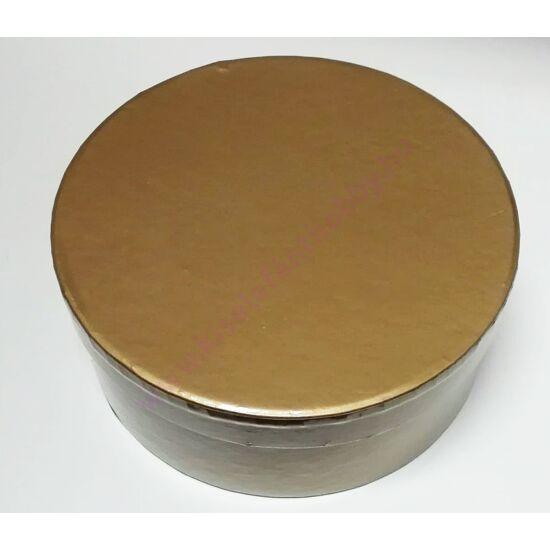 Kerek papírdoboz 14,5x6 cm fényes arany