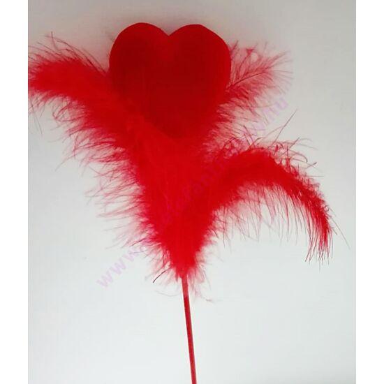 Flokkolt tollas beszúrós szív teli 5x15 cm
