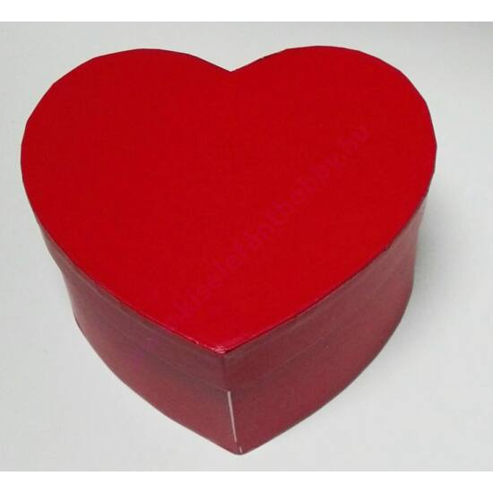 Szív papírdoboz 11,5x11,5x6,5 cm piros