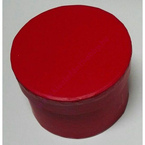 Kis kerek papírdoboz 8x6 cm piros