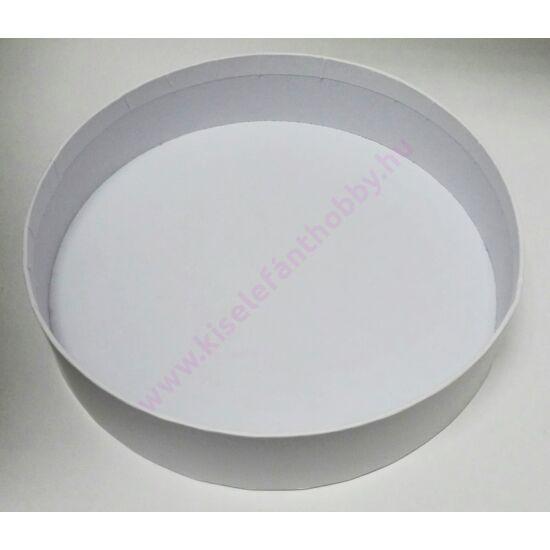 Kerek papír tálka fehér 20x5 cm
