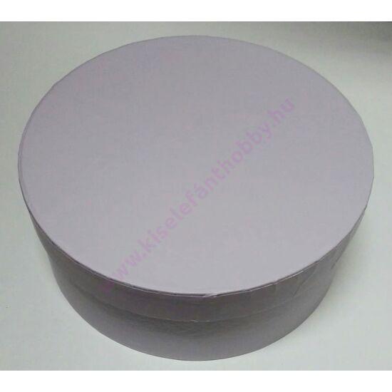 Kerek papírdoboz 17x7 cm lila