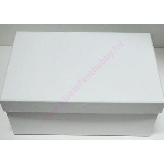 Papírdoboz 21,5x14,5x8 cm fehér