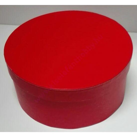 Kerek papírdoboz 19,5x8 cm piros