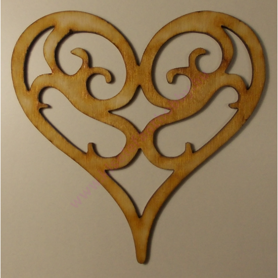 Vintage szív natur 10 cm