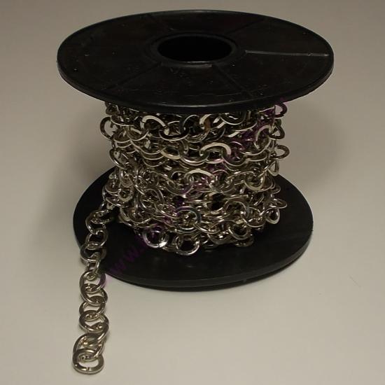 Méteres lánc nagyszemű ezüst