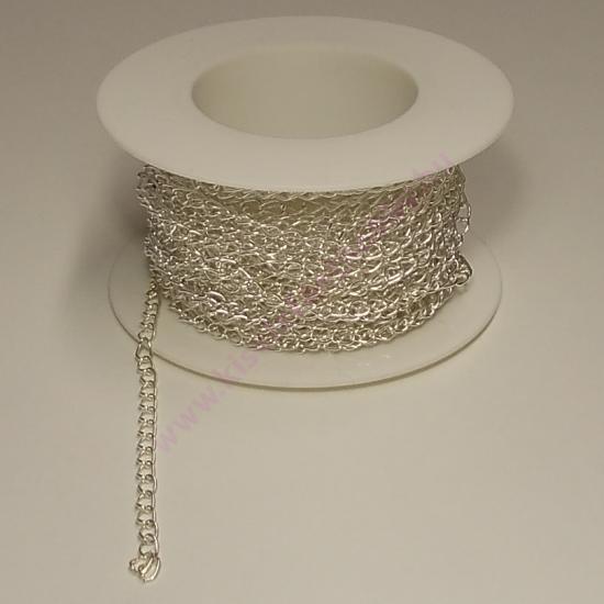 Méteres lánc aprószemű ezüst
