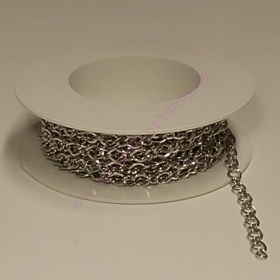 Méteres lánc közepesszemű ezüst