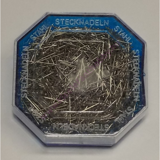 Nikkel rövid dekorgombostű 1,8 cm