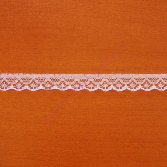 Fehér műszálas csipke 1,8 cm